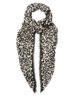 Saint Laurent Heart-print fine-knit wool scarf