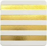Sugar Paper Gold Cabana Stripe Coaster