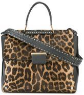 Furla leopard print large tote