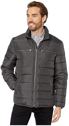 Cole Haan Packable Down Jacket (Grey) Men's Coat
