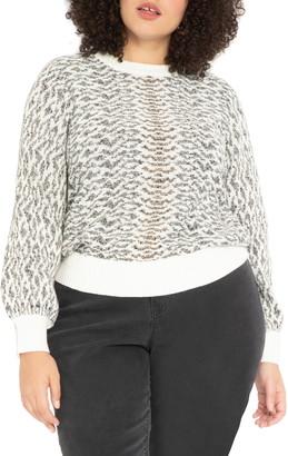ELOQUII Jacquard Lurex Sweater