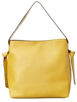French Connection Aria Leather Bucket Hobo.