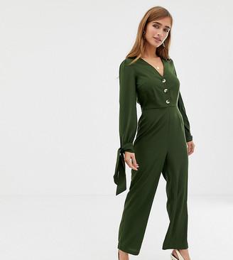 Vero Moda Petite 3/4 Tie Sleeve Jumpsuit