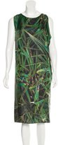 Zero Maria Cornejo Abstract Print Silk Dress