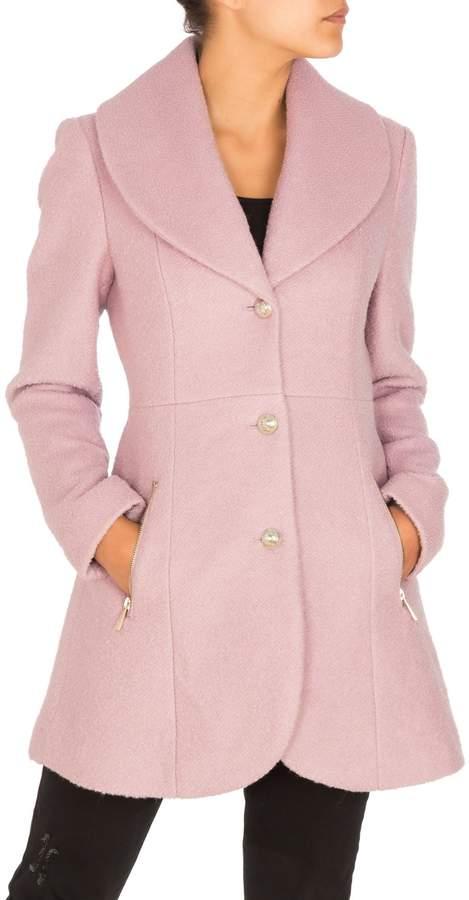 GUESS Textured Wool-Blend Coat