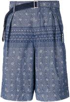 Sacai pattered shorts