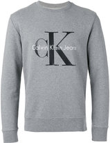 Calvin Klein Jeans logo print crew neck sweatshirt - men - Cotton - L