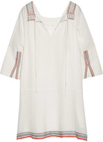 Apiece Apart Tewa Embroidered Cotton-gauze Dress - Cream