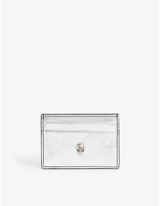Alexander McQueen Classic metallic leather cardholder