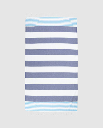 Tolu Australia - Women's Blue Towels - Thin Turkish Towel - Size One Size, 100cm at The Iconic