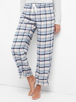 Gap Flannel roll-up pajamas