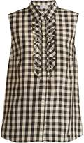 RED Valentino Gingham-print sleeveless shirt