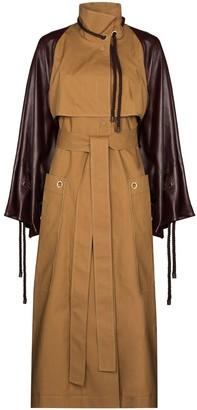 Roksanda Contrast Sleeved Trench Coat