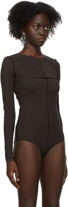 MM6 MAISON MARGIELA Brown Reversed Long Sleeve Bodysuit