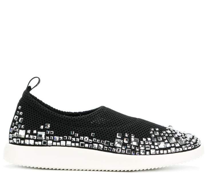 Giuseppe Zanotti Design embellished perforated sneakers