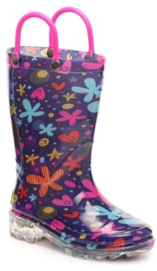Western Chief Groovy Garden Light-Up Rain Boot - Kids'