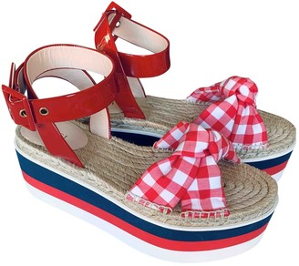 Gucci Red Patent leather Espadrilles