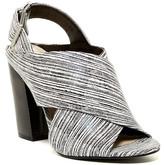 Calvin Klein Suchi Graphic Stripe Block Heel Sandal