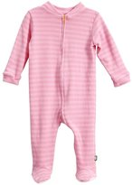 City Threads Soft Stripe Footie - Purple-3T
