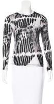 Proenza Schouler Tie-Dyed Long Sleeve T-Shirt