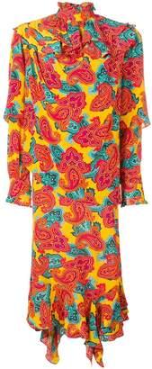 J.W.Anderson asymmetric paisley print dress