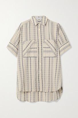 Palmer Harding palmer//harding - Boyfriend Oversized Striped Linen-blend Seersucker Shirt - Beige