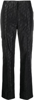 Saks Potts Monogram-Jacquard Trousers