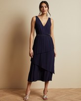 Ted Baker Pleated Sleeveless Midi Dress