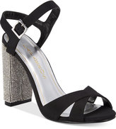 Caparros Hayley Embellished Block-Heel Evening Sandals