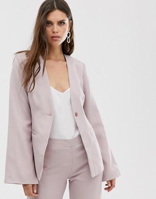 UNIQUE21 split sleeve blazer-Multi