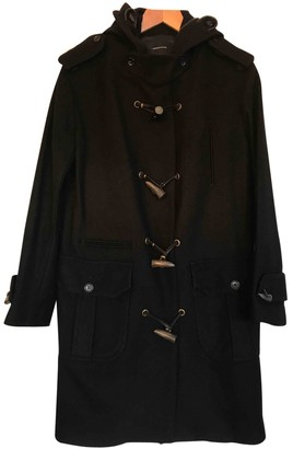 Surface to Air Black Wool Coat for Women