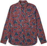 Whistles Leaf Print Panelled Shirt