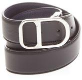 Christian Dior Reversible Logo Buckle Leather Belt