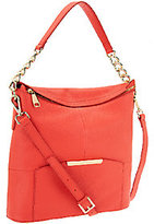 Marc Fisher As Is Cora Leather Convertible Zip Top Hobo