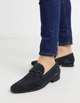 Base London Soprano bar loafers navy suede