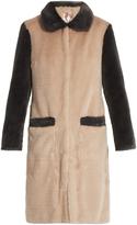 SHRIMPS Contrast trim faux-fur coat