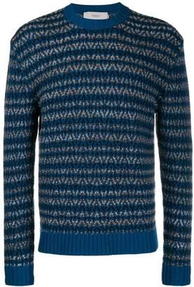 Pringle chevron print knit jumper