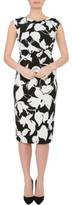 Anthea Crawford BLACK/IVORY JERSEY DRESS
