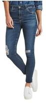 AG Jeans Women's Farrah Ankle Skinny Jean in Interim Destroyed