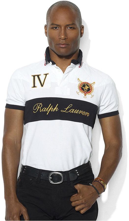 Polo Ralph Lauren Shirt, Custom-Fit Snow Polo Rugby Shirt