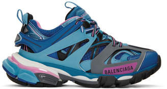 Balenciaga Blue and Pink Track Sneakers
