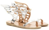 Ancient Greek Sandals Ikaria Metallic Leather Sandals