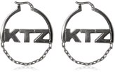 Kokon To Zai Logo & Chain Hoop Earrings