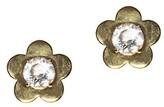 Thumbnail for your product : Lele Sadoughi Petal-Frame 14K Goldplated Glass Crystal Stud Earrings
