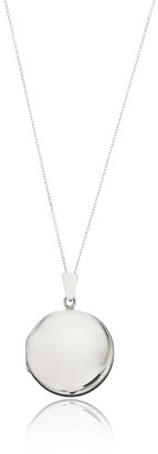 Lily & Roo Sterling Silver Large Round Locket Necklace