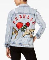 True Religion Rebelle Cotton Embroidered Trucker Jacket