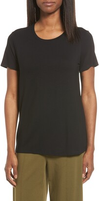 Eileen Fisher Short Sleeve Jersey Tee