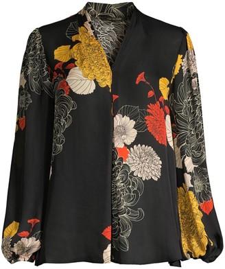Kobi Halperin Sakara Floral Silk Blouse