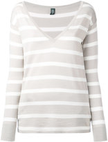 Eleventy striped knit top - women - Silk/Merino - M