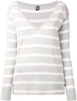 Eleventy striped knit top
